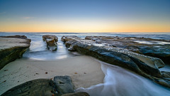 Early morning at the tide pools (R*Pacoma) Tags: places lajollatidepools lajolla sandiego california nikon d7100 longexposure tokina 1116 colorful sky beach water sand rocks