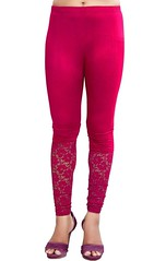 Cotton Leggings in Maroon Color Shaded