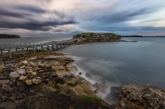 Curvature (Crouchy69) Tags: sunrise dawn landscape seascape ocean sea water coast rocks clouds sky long exposure bare island la perouse sydney australia