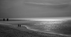 double (Dan-Schneider) Tags: blackandwhite bw beach water walk human light scene trip travel silhouette olympus omdem10 monochrome minimalism mood streetphotography schwarzweiss sky sea silence