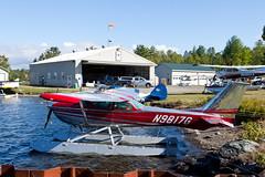 Private Cessna 172L N9817G (jbp274) Tags: greenville 52b greenvilleseaplaneflyin flyin lake water airplanes seaplane floatplane cessna c172 skyhawk mooseheadlake
