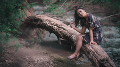 r3dd-1-5 (r3ddlight) Tags: asian asianwoman a6300 sonya6300 sony85mmgm sonyphoto portrait photography outside hmong tree river