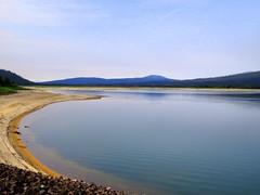 So far away! Wickiup Reservoir, near Bend, Oregon, Aug 2015 (Judith B. Gandy) Tags: bend lakes oregon reservoirs sky water wickiupdamandreservoir wickiupreservoir