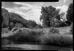 Chassezac valley (salparadise666) Tags: nils volkmer busch pressman c 2x3 101mm wollensak fomapan 100 sheet film medium format cevennes france black white monochrome