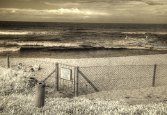 Please Close the Gate (Cocoabiscuit) Tags: cocoabiscuit nikon d300 infrared ir saltrock southafrica kwazulunatal ocean beach