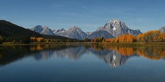 Autumn (alideniese) Tags: grandtetonnationalpark wyoming usa mountains landscape waterscape water river reflections autumn fall trees colour color autumnal snow morning daytime outdoors