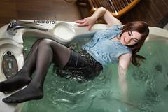 Wetlook in Business Suit and Tights #373 (Wetlook with WetFoto.com) Tags: wetlook wetfoto wetgirl brunette wethair getwet swimming fullyclothed businesssuit shirt tights heels jacuzzi bath
