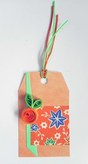 GT5 - Handmade gift tag (tengds) Tags: gifttag orange quilling fruit green japanesepaper linenlikepaper flowers blue viscosestrings handmade papercraft tengds tag