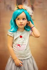 little fashionista week 37 of dogwood 52 week challenge (Sigita JP) Tags: dogwood52 littleexplore littlegirl blue hair cute portrait kidsportrait 52weekchallenge