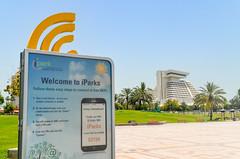 Doha West Bay (jbdodane) Tags: sheraton alamy160920 doha middleeast park qatar wifi alamy