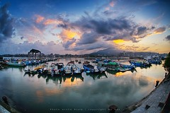 Bali Dist., New Taipei City, Taiwan (R.O.C.) () Tags: bali dist new taipei city taiwan roc  64        sunrise black card digital slr landscape ferry head 5diii 5d3        sigma15mmf28exdgfisheye