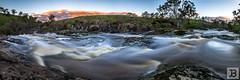 Campaspe River (Joel Bramley) Tags: water waterfall river long exposure victoria sunset australia panoramic