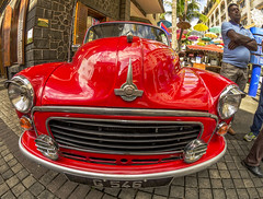 Red Car Mauritius (Malaquin Eric ........ thanks for your visits & co) Tags: ilemaurice indianocean mauritius colors car voituredecollection portlouis pentax fisheye ericmalaquin