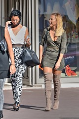DSE_5524 (ze06) Tags: candid street cannes croisette sexy girl gorgeous glamour woman dress minidress heels boots blonde