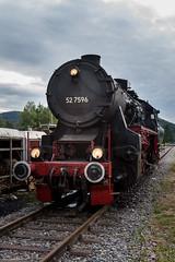 EFZ 52 7596, Schluchsee, 22-7-2016 (mch68) Tags: br52 br527596 duitsland efz eisenbahnfreundezollernbahn europe germany martinstcklin museumcompanies rail ralfmetzger schluchsee seebruggbahnhof steamlocomotive