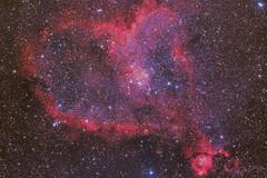 Heart Nebula (Alejandro Pertuz) Tags: heart nebula astronomy photography astrophotography night sky stars pink telescope science camera canon
