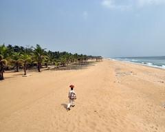 The long walk back, Snake Island, Lagos, Nigeria (MJ Reilly) Tags: sea beach foot seaside nikon long walk empty lagos atlantic nigeria lonely seller hawker distant trader nigerian stride wares d90