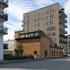 Linabergskajen I (hansn (2 Million Views)) Tags: architecture modern square apartments sweden stockholm contemporary architect housing sverige brf arkitektur dwellings bostder lgenheter squarish arkitekt annedal bostadsrttsfrening tenantownerssociety kjellandersjberg