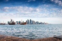 So far, So clear (puthoOr photOgraphy) Tags: city skyline cityscape dk doha qatar lightroom cokinfilter westbay cokin ndfilter dohaqatar d90 adobelightroom dohacorniche nikond90 dohacornish amazingqatar puthoor gettyimagehq puthoorphotography