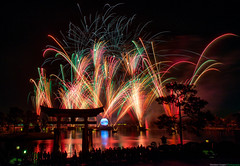 Illuminations - Now in Technicolor (TheTimeTheSpace) Tags: longexposure colors japan night reflections pagoda epcot nikon fireworks illuminations disney disneyworld wdw waltdisneyworld reflectionsofearth worldshowcase matthewcooper nikond800 thetimethespace