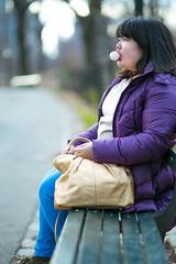 Bubble tape (Ben Zweig) Tags: nyc portrait fashion asian outdoors centralpark bubblegum linley
