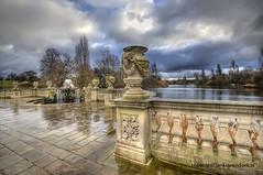 Vase (Jan Kranendonk) Tags: park england sculpture london clouds pond europe britain vase kensington kensingtongardens hdr italianfountain