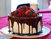 Christmas Cake (Christopher.Tollefson) Tags: christmas cake fruit berries chocolate chocolatedipped tiered