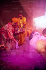 Holi, Festival of Colors, India (Jitendra Singh : Indian Travel Photographer) Tags: red people india closeup fun outdoors temple photography togetherness day colours adult dancing religion crowd multicoloured happiness meeting celebration casual youngadult hinduism holi enjoyment frontview confidence traditionalculture uttarpradesh traditionalfestival lookingatcamera onlymen holihai largegroupofpeople unrecognisableperson colourimage artscultureandentertainment holyfestival traditionallyindian rangiliholi indianholi incidentalpeople brajholi mathuraholi nandgaonholi barsanaholi traditionalholi lathmarholi brijholi lathmaarholi