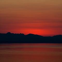 Marmalade Skies (Prestidigitizer) Tags: ocean sunset mountains water evening powellriver pentaxk10d pentaxda50135mm mygearandme mygearandmepremium mygearandmebronze mygearandmesilver ringexcellence