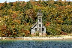 East Channel Lighthouse (Cole Chase Photography) Tags: autumn fall october michigan upperpeninsula picturedrocks picturedrocksnationallakeshore eastchannellighthouse michigansupperpeninsula picturedrockscruise grandislandmichigan