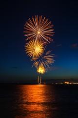 Australia Day Fireworks (Ading Attamimi) Tags: longexposure seascape beach landscape nikon fireworks australia melbourne victoria uploaded:by=flickrmobile flickriosapp:filter=nofilter