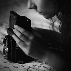 deep secret of lens (Rain...) Tags: portrait black blancoynegro contrast dark lens shadows noiretblanc retrato secret deep yashica noire whitebw rainphotography luisflopezphotography