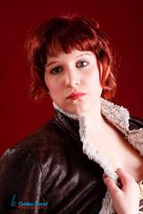 Dirndl (~shrewd~) Tags: portrait orange girl face hat female canon germany studio deutschland eos dress blouse redhead hut bier frau karlsruhe weiss fkk mdchen bluse dirndl lederhose kleid weiblich bierkrug rothaarig schrze hosentrger 40d dianajones lightgiants