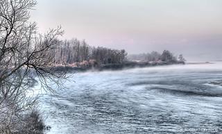 il Po d'inverno