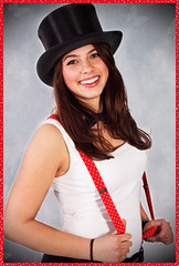 Happy Valentine`s Day.. (akal_flickr) Tags: red smile hat braces top femaleportrait