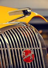 Buick Bling (Hi-Fi Fotos) Tags: red classic car yellow emblem buick nikon gm steel 8 sigma ornament chrome american badge hood grille d5000 18250mm