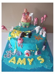 gonna getcha (The Whole Cake and Caboodle ( lisa )) Tags: cakes cake jellyfish amy patrick bob spongebob hansen lynne whangarei squarepants caboodle garynickelodeonsponge