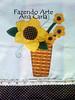 pano de prato girassol (Ana Carla_Fazendo Arte) Tags: flores frutas galinha cupcake patchwork cozinha