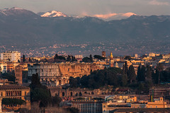 Rome as you'd never imagined - The Colosseo, Monti Prenestini and Appennini (Peaks: Scalambra, Ortara, La Monna) (luigig75) Tags: italy mountain snow mountains rome montagne italia gull neve 70300mm tamron vc gabbiano usd lazio colosseo 70300 f456 scalambra montiprenestini ortara lamonna tamronsp70300mmf456divcusd
