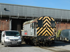 09012 Dick Hardy at Barrow Hill, 17th Feb 2013. (Dave Wragg) Tags: diesel railway loco locomotive roundhouse shunter barrowhill class09 dickhardy 09012