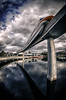 ride the sky (Eddy Alvarez) Tags: sky epcot wide disney transportation daytime monorail waltdisneyworld curve nikkor105mmf28fisheye nikond7000 monorailmonday