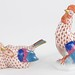 194. Herend Rooster and Love Birds Figures
