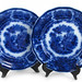 316. Two 19th Century Flow Blue Dinner Plates