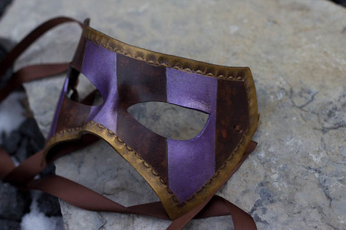 Handmade Leather Mask