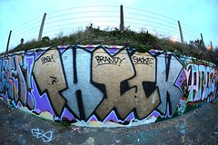 Phick (Lord Cogsby) Tags: black rock graffiti brighton fisheye thick phick