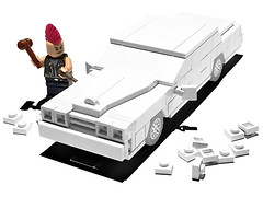 Under construction (-derjoe-) Tags: auto white art car book punk bonn lego garage wip cadillac vehicles your heel joes build 1977 deville joachim coupe own klang weisses