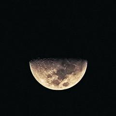 Half Moon Night (David Alexander Elder) Tags: moon man dark side craters half abigfave