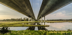 Under the motorway (steve.mcgrane) Tags: bridge lake pond m1 estuary approved malahide m50 blinkagain