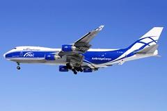 Air Bridge Cargo Boeing 747-4HAERF (VP-BIM) (ChicagoKoz (ORDSpotter)) Tags: bridge chicago airplane airport aircraft aviation flight jet cargo ohare abc boeing ord airliner jetliner kord airbridge 7474haerf vpbim