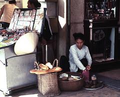 Saigon Nov 1968 - Bread vendor on Le Loi (manhhai) Tags: 1969 1968 saigon brianwickham